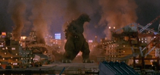 Godzilla stands alone after the battle
